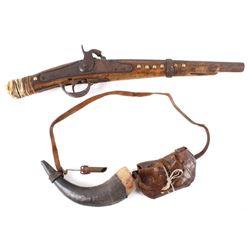 Plains Buffalo Runner Indian Blanket Gun 1800's