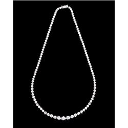 9.97 ct. Diamond 14K Gold Necklace w/ Paperwork