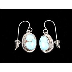 Navajo Golden Hills Turquoise Sterling Earrings