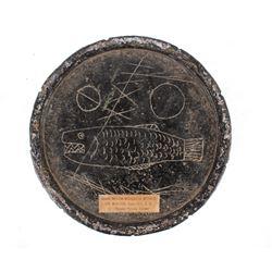 Shoshone Steatite Bowl w/ Togia Carvings c. 1800's