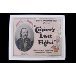 Custer's Last Fight Francis Ford 1912 Movie Poster