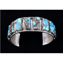Navajo CJ Butler Cripple Creek Turquoise Bracelet