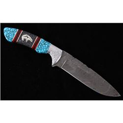 Navajo Dave Yellowhorse Turquoise Bear Knife