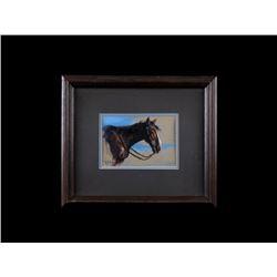 Vel Miller Original Watercolor Horse Portrait 1972