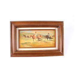 Original Sheryl Bodily Montana 1936 Oil on Canvas