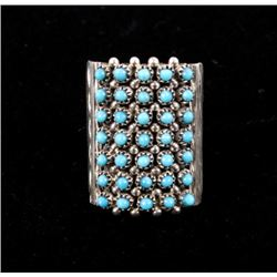 Zuni S. Haloo Petite Point Turquoise & Silver Ring