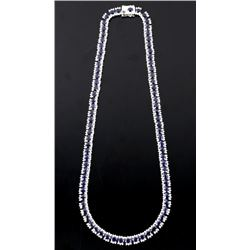 30.70ct. Blue Sapphire & 6.76ct. Diamond Necklace