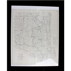 Montana Indian Reservation Map Flathead Lake 1939