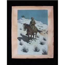 Frederic Remington The Cossack Chromolithograph