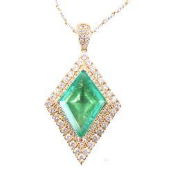 Astounding Emerald & Diamond Classic Necklace