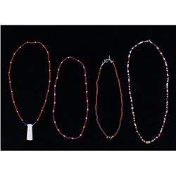 Hudson Bay Red White Heart Beads w Exotic Pendants