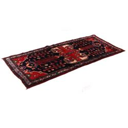 1930's Bijar Persian Hand Knotted Wool Runner Rug