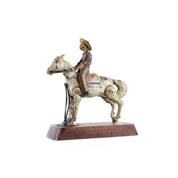 "1920's Lehmann Tin ""Wild West Bucking Bronco"""
