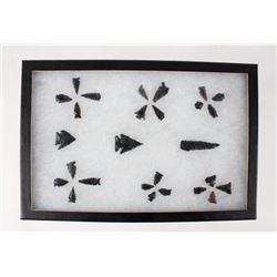 Ancient Transitional Archaic Obsidian Arrowheads