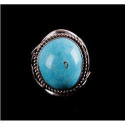 Navajo Kingman Turquoise Sterling Silver Ring