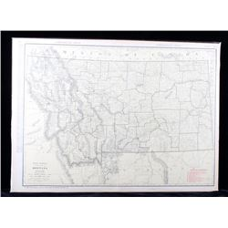 1927 Rand McNally Montana Railroad Commercial Map