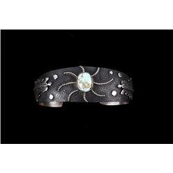 Navajo Robert Shakey Sterling Silver Bracelet