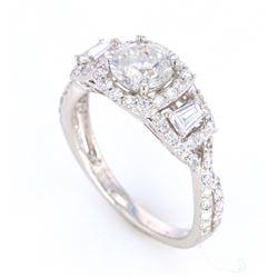 Estate Diamond Platinum Ring