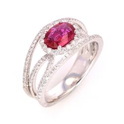 Rare Unheated Natural Ruby w/ GIA & AIG Papers