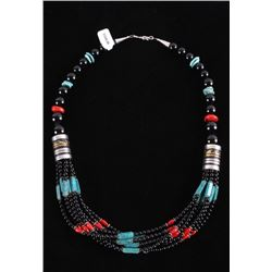 Navajo TR Singer Lone Mountain Turquoise Necklace