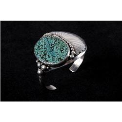 Navajo Pauite Turquoise Sterling Silver Bracelet