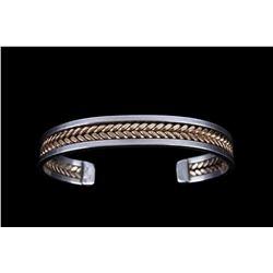 Tahe Navajo Gold & Sterling Silver Bracelet