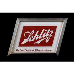 Schlitz Beer Electric Advertising Bar Sign c1950's