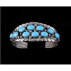 Navajo Sleeping Beauty Turquoise Sterling Bracelet