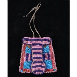 Northern Cheyenne Beaded Strike-A-Lite Bag 1800's