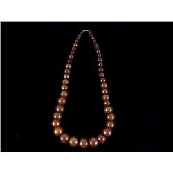Copal Amber Graduated Trade Bead Necklace