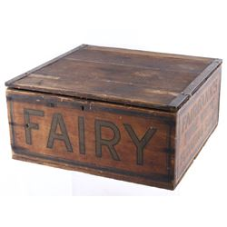 Late 1800's Wooden Fairy Fairbanks Soap Box Crate