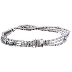 Vintage Parisian Style Diamond 14K Gold Bracelet