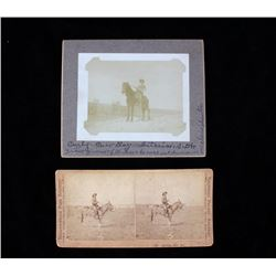 "19th Century Montana ""Cow Boy"" Stereoview & Photo"