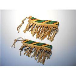 Comanche Beaded Hide Arm Bands circa 1890's