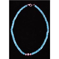 Navjao Mason Lee Kingman Turquoise Silver Necklace