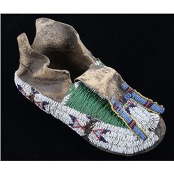 Gros Ventre Beaded Moccasin 19th Century