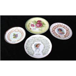 Early 1900's Advertising China Plates From MT & WY