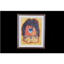 Original Navajo Painting on Canvas by Tony Begay