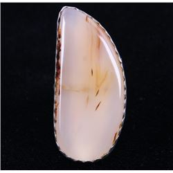 Navajo Montana Agate Sterling Silver Ring