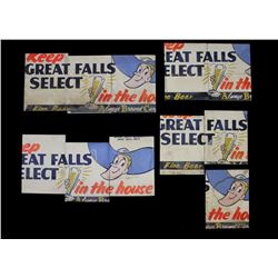 Montana Great Falls Select Fine Beer Signs c.1940s