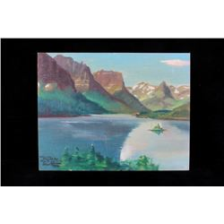 Carl Tolpo St. Mary's Lake Oil Painting c.1965