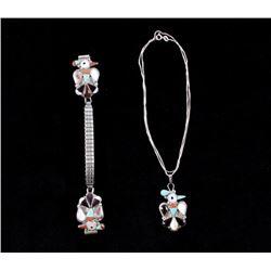 Zuni J. D. Lalio Thunderbird Mosiac Jewelry