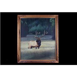 Jim H. Cherry Trophy Bull Elk Original Painting