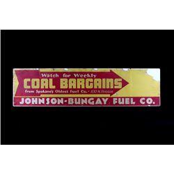 Johnson-Bungay Fuel Co. Coal Bargains Sign