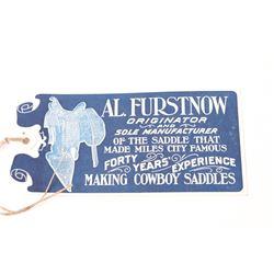"Like New Al. Furstnow Saddle Tag Early 1900""s"