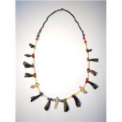 Plains Indian Dew Claw & Elk Tooth Bandolier 1890-