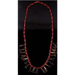 Plains Indian Trade Bead & Jingle Cone Necklace