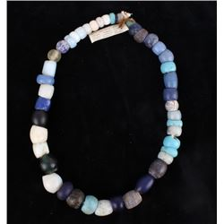 1800's Dutch Dogon Glass Trade Bead Necklace