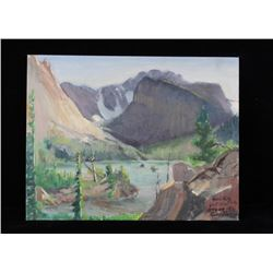 Original Carl Tolpo Loch Vale Oil Painting c.1962