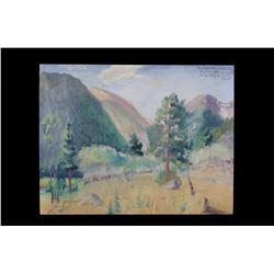 Original Carl Tolpo Endo Valley Oil Painting 1962